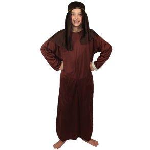 Kids Brown Nativity Gown (lg) ()