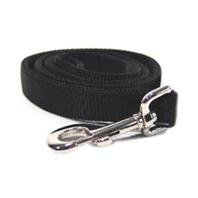 Nylon Double Handle - Hamilton Double Thick Nylon Dog Walking Lead Total Length Including Loop Handle, 1-Inch by 4-Feet, Black