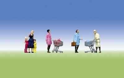 Faller 151035 Supermarket Shoppers & Trolleys by Faller -