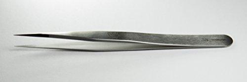 Regine 3B -S - Very Sharp, Serrated Points, Straight Tip - Tweezer, Hardened Stainless Steel, High Precision Electronics, Biology Medicine Surgery Tweezers