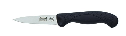 Hoffritz 5190098 Commercial Top Rated German Steel Paring Knife with Non-Slip Handle for Home and Professional Use, 3.5-Inch, Black by Hoffritz