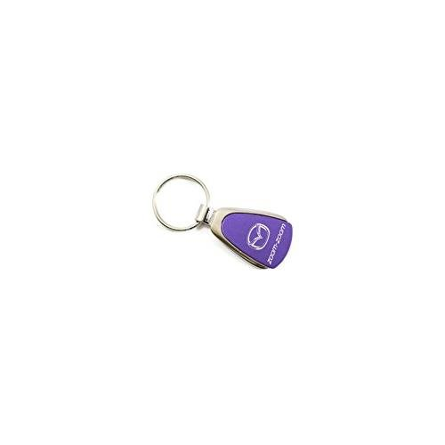 Mazda Zoom Zoom Purple Teardrop Key Fob Authentic Logo Key Chain Key Ring Keychain Lanyard