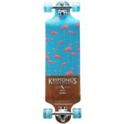 Kryptonics Drop-Down Longboard Complete Skateboard, 32
