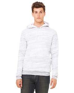 Bella Hooded Sweatshirt - Bella + Canvas Unisex Sponge Fleece Pullover Hoodie S LT GREY MARBLE