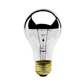 100 CRI 120V Half Chrome Finish A19 Bulb Type 1,500Hrs 2 Pack Bulbrite 712160-60W E26 Base 2700K Warm White Light 610 Lumens