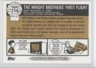The Wright Brothers' First Flight (Trading Card) 2009 Topps Heritage American Heroes Edition - [Base] #114
