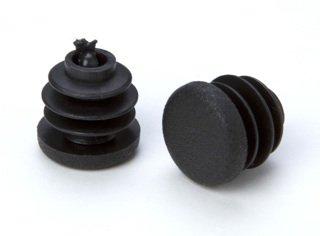 4 St/ück Rohrstopfen Lamellenstopfen Endkappen f/ür Rundrohre Kunststoff Durchmesser 15mm schwarz