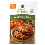 Simply Organic, Southwest Taco, Seasoning Mix, CERTIFIED ORGANIC (Pack of 5)