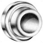 (Baldwin 4273260 Polished Chrome 1-3/4 Inch Diameter Concave Wall Mounted Flush Bumper )