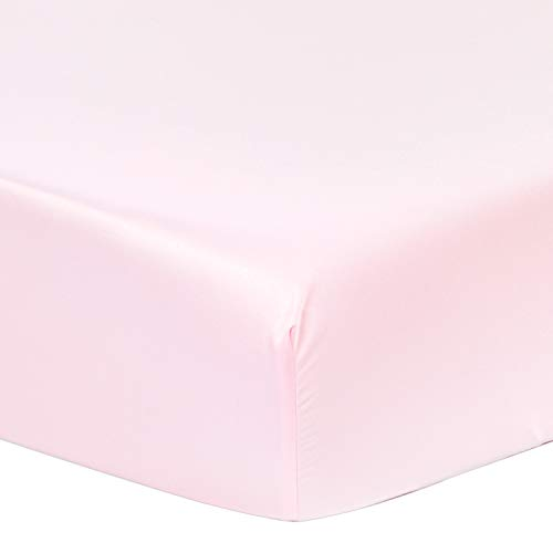 Christmas & New Year Big Sale - Soft and Smooth Microsilk Fitted Crib Sheets (Pearl Pink, 28