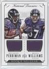 Breshad Perriman; Maxx Williams #20/99 (Football Card) 2015 Panini National Treasures - Rookie NFL Gear Combo #RNGC-PW ()