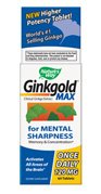 Nature s Way Ginkgold Max Advanced Ginkgo Extract for Mental Sharpness 1x Daily 120 mg, 60 Count