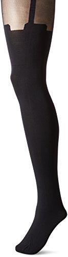 Pretty Polly Womens Super Suspender Tights,Black,One Size