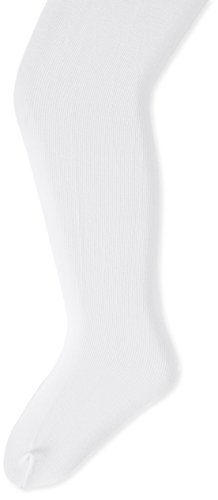 Country Kids Little Girls' Pima Cotton Tights, White, 6-8 Years