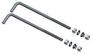 Rab ABK4-11 Anchor Bolt Kit With Hardware For 4 Inch 11 Gauge Square Steel Pole Bronze