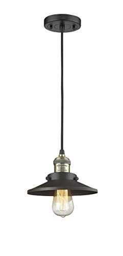 Innovations 201C-BAB-M6 1 Light Mini Pendant Black Antique Brass