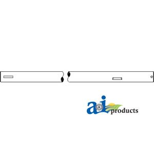 A&I Products. A-374850R1. Shaft, Brake Pedal (Row Crop & Utility). (Pedal Crop)