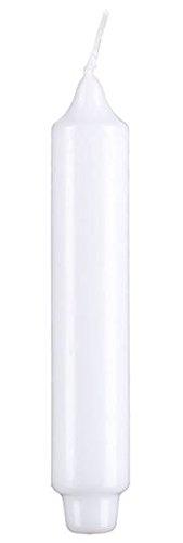 Stabkerzen mit Zapfenfu/ß Punchkerzen 12 St/ück Wei/ß 17 x 3 cm