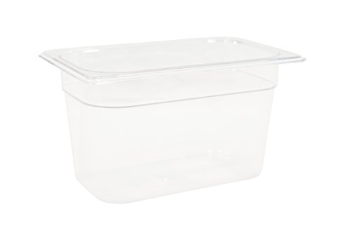 Rubbermaid Commercial Products FG112P00CLR Cold Food Pan, 6