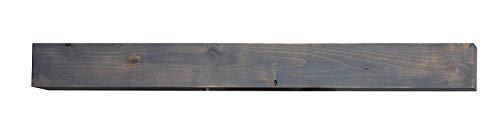 dark wood fireplace mantel - 4