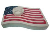 Azenta Products 42727 ~ American Flag ~ 2 Hour Powder Incense Stone Burner