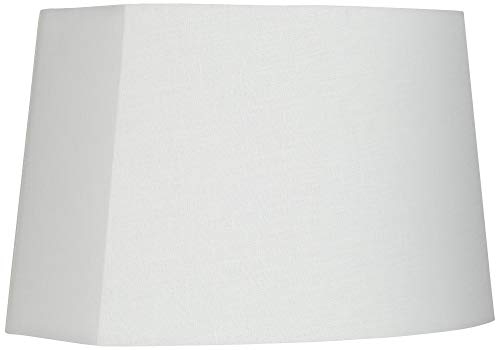 (White Modified Oval Lamp Shade 10/12.5x11/15x10)