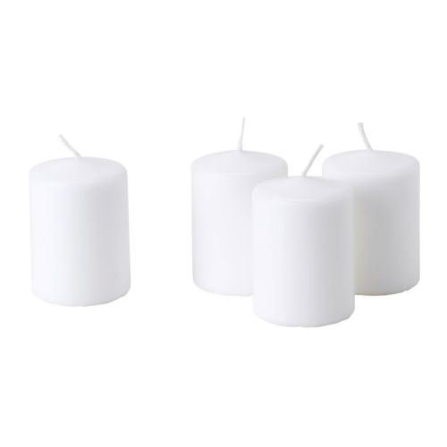 hemsjö-candele–Candele non profumate, bianco IKEA