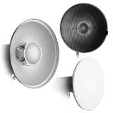 Fotodiox Pro Beauty Dish 18'' with Honeycomb Grid and Speedring for Canon Flash Speedlight by Fotodiox