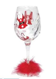 Cheap Lolita Hot Mama Claus Wine Glass by Unknown