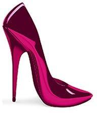 4' Stiletto High Heel - Pink High Heel Cardboard Cutout Standup Prop (4 FT Tall)