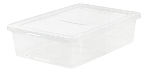 IRIS 28 Quart Clear Storage Box, 2 Pack (Plastic Tote Containers)