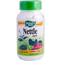 Natures Way Nettle Herb Capsule, 435 Milligram - 100 per pack - 6 packs per case.