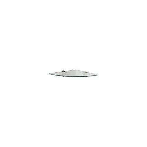 Knape & Vogt KT-0134-1212SN 12'' X 12'' X 2.25'' Clear Glass Corner Shelf Set by Knape & Vogt (Image #1)