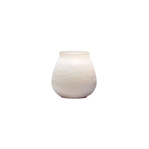 Glass Venetian Candle (Sterno Products 40124 Frost White 60-Hour Venetian Candle - 12 /)