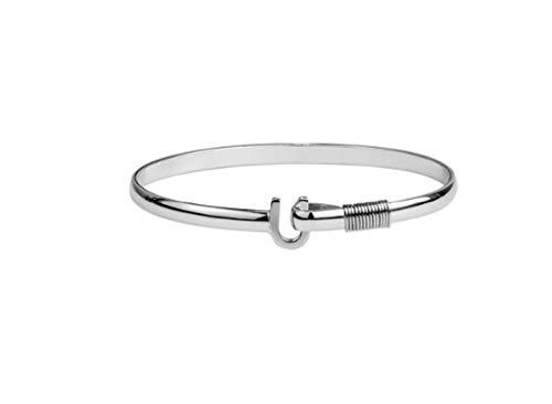 Hook The Company 4mm Titanium Original Bracelet 7 In (Caribbean Hook Silver Bracelet)