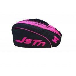 Just Ten Padel Racket Bag, color negro,rosa: Amazon.es: Deportes y aire libre
