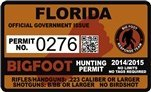 "Florida Bigfoot Hunting Permit 2.4"" x 4"" Decal Sticker"