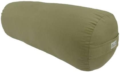 Kakaos Supportive Round Cotton Yoga Bolster