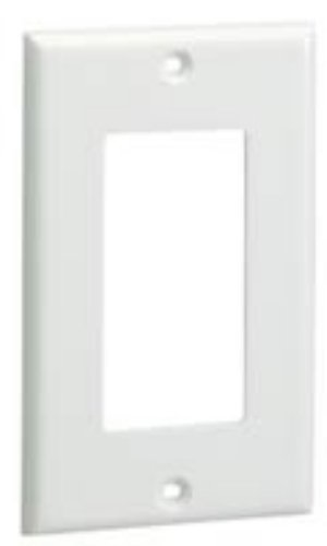 Panduit FP2RCIG Screw-On Single Gang Rectangular Faceplate, Plastic, Gray ()