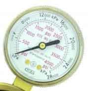 VICTOR 1424-0019 Style 2 Inch Brass Pressure Gauge