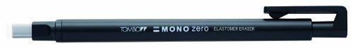 Tombow Mono zero Präzisionsradierer-Set, rechteckige Spitze Radierer, schwarz/Radierer Refills (Pack von 2)