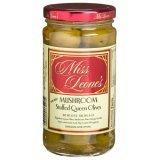 Miss Leones Mushroom Stuffed Gourmet Queen Spanish Green Olives, Net Wt 12 oz