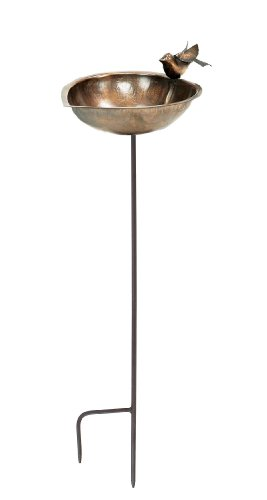 Copper Plated Bird Bath