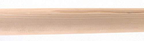 "Venetian Rod Company Wood Drapery Pole 1-3/8"" Smooth Round Wood 8' Pole White"