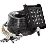 Seismic Audio - SAEM-12x4x100 - 12 Channel XLR Sends and 4 Channel XLR Returns Snake Cable - 100 Feet