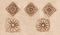 Floral Tin Tile Sculpture Stencil - Sculpture Stencil only - Plastic