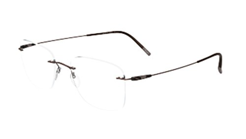 Eyeglasses Silhouette Dynamics Colorwave (5500) 6040 Khaki/Brown 52/19/145 3 ()