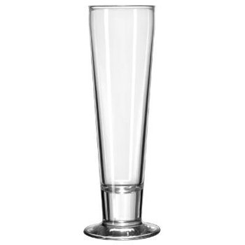 Libbey Catalina Footed Beer Glasses, Pilsner, 12oz, 9'' Tall - Includes 24 glasses per case. by Libbey