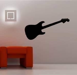 Online Design Guitarra Eléctrica de Pared Pegatina Vinilo Infantil ...