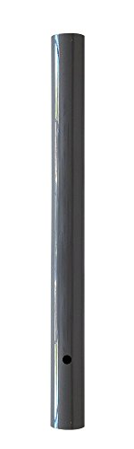 Wellite 96 Inch Outdoor Lamp Post Direct Burial Aluminum Post for Drive Way, Grey